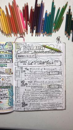 Bible Art Journaling and Scripture Sermon Illustrations from Romans Bible Study. Art Journal Pages for Scripture Drawing & Sermon Illustration Notes.