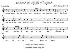 Beth's Music Notes: Come and Go With Me To That Land