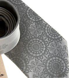 Cottage Lace Silk Necktie