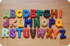 Everyday Muses: Felt Alphabet Letters