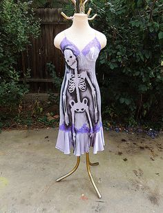 Zombie costume // Nightgown // Skeleton dress // Halloween Costume adult // Nightie // Zombie housewife