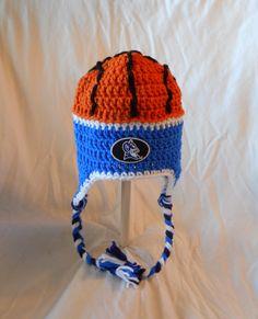 Crochet Duke University Blue Devils Basketball Inspired Hat with Embroidered Logo - Unisex Adult on Etsy, $34.99