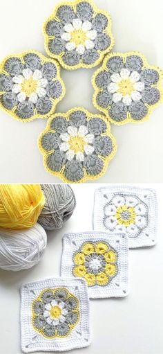 Lovely African Flowers Crochet Pattern Ideas. You can go for endless color combinations with the African Flower design and they will all look flawlessly! Just take a look at the pictures below! Would't you want a blanket, pillow case, or even a coaster with this design? I bet you would! Well, now you can and I can assure you, that this pattern is super easy to do! #freecrochetpattern #flower #stitch