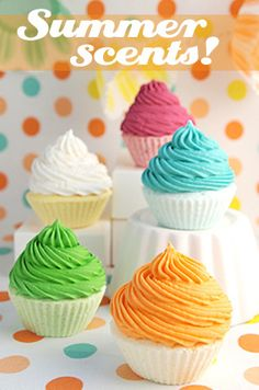 cupcake bath fizzies, via Flickr.