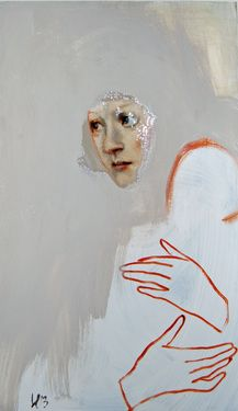 """pieni poikueni,"" original portrait painting by artist Silja Selonen (Finland) available at Saatchi Art #SaatchiArt."