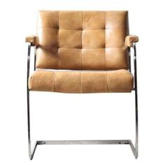 Image of 1970s Tufted Chair with Chrome Frame