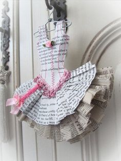 Papier Boudoir  Ballerina with glitter lace par lilliputloft