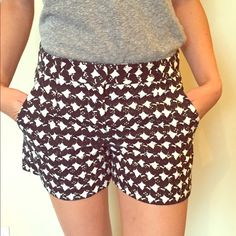 Women's Theory shorts, dark blue and white print Women's Theory shorts, dark blue and white print, Size 24, Purchased at Theory in Paris, worn twice. Perfect condition! Theory Other