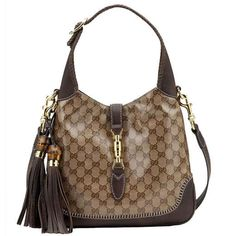Gucci New Jackie Medium Shoulder Bag 219725 Brown... #LadiesStylish #Handbags