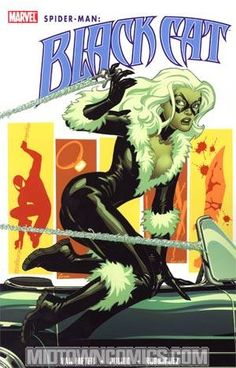 The Cat is B(l)ack in her own series and it's international intrigue at its sexiest by Jen Van Meter (Hopeless Savages, JSA) and Javier Pulido (AMAZING SPIDER-MAN).  As Spider-Man is stalked during the Grim Hunt, the world's slyest, smartest and sneakiest jewel thief's latest heist puts the Black Cat face-to-face with the family that has been terrorizing Spider-Man's dreams and threatening those closest to him!