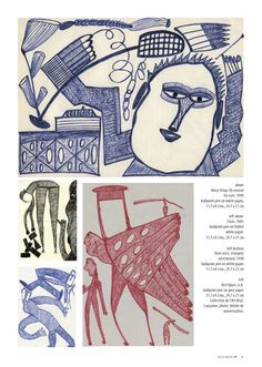 RAWVISION introduces Ernst Kolb, actually page 4. The space of 6 pages is rather limited whereas the imagination of the artist is almost unlimited. This becomes obvious when visiting the digital Gallery www.aussenseiterk..., where much more of his strange drawings can be discovered and the Article can be downloaded in english and german language.
