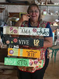Ingrid Cadenasso en el taller de Rosita Perosa