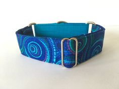 Dog Blue spiral necklace necklace martingale Greyhound by 4GUAUS
