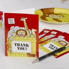 Dear Zoo Thank you Cards 10 Per Pack. These Zoo themed Thank you Cards are the perfect way of thanking children for attening your childs Dear Zoo Party Zoo Birthday, Third Birthday, 1st Birthday Parties, Birthday Ideas, Dear Zoo Party, Thank You Cards From Kids, Childrens Party, Party Themes, Party Ideas