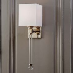 Regina Andrew Design Crystal Tail Sconce In Polished Nickel 4 6885