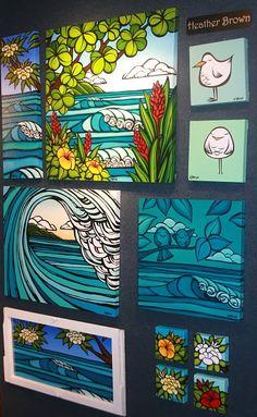 Heather Brown art - reminds me of eloping to Waikiki last summer XOXO