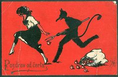 Though for some children, there is no Santa Claus...but rather KRAMPUS
