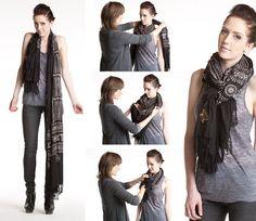 Consejos de moda para el invierno 2012 Aprender a atar su bufanda bufandas de moda  Fashion Tips For Winter 2012 Learn To Tie Your Scarf Trendy Scarves