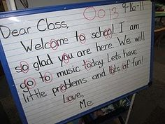 """GReat work stations as well as cute """"sayings"""" to remember end marks!"""