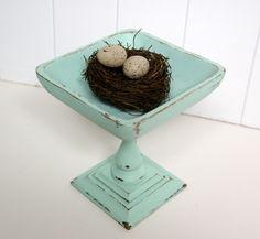 candle holder + wooden bowl