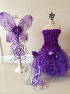 Purple Tutu Set Princess Tutu Dress Purple Tutu by partiesandfun, $32.00