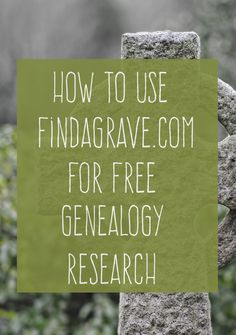 How to Use Findagrave for FREE Genealogy Research - Meet Your Ancestors & Learn Tons of Great Information About Them. Here's how to use one of the best free genealogy research tools out there, Findagrave. Free Genealogy Sites, Genealogy Forms, Genealogy Research, Family Genealogy, Free Genealogy Records, Ancestry Free, Free Ancestry Search, My Family History, All Family