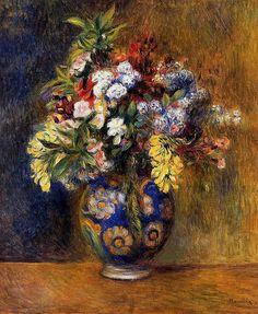 Flowers in a Vase, 1878. Renoir