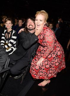 Dave Grohl and Adele at the Grammys. Too much talent in one photo.