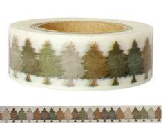 Masking Tape - Washi Tape TANNEN - ein Designerstück von Fitzi-Floet bei DaWanda