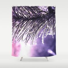 Pine(2) Shower Curtain by Mary Berg. Worldwide shipping available at Society6.com. Just one of millions of high quality products available.  #society6 #maryberg #textile #abstract #design  #blue #black #purple #showercurtain #pine #newyear #winter