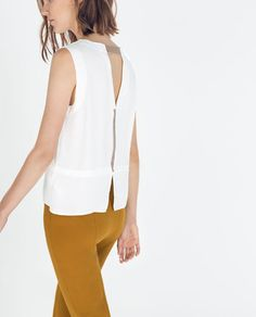 ZARA - WOMAN - CONTRAST EDGE TOP