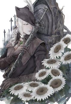 Bloodborne Maria, Fandom Games, Love Games, Female Character Design, Moka, Dark Souls, My Father, Female Characters, Game Art