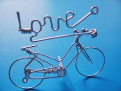LOVE Word Bicycle Christmas Ornament Decor -Metal Wire Art Love sign - Bike Incense Holder - Gifts for Her/Him/Dad/Mom/Boys/Girls/Cyclists
