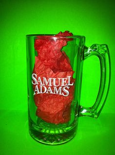 Large Samuel Adams Beer Glass Mug Great Condition Free Priority Shipping | eBay