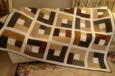 Big scrappy, good for charity quilts