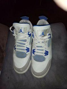 low priced 5663f a5f58 NIKE AIR JORDAN IV 4 RETRO WHITE MILITARY BLUE SZ 6Y  fashion  clothing   shoes  accessories  kidsclothingshoesaccs  boysshoes (ebay link)