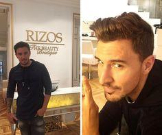 El estilista de moda, Víctor Blanco, ha venido a probar a RIZOS el innovador sistema de coloración Láser Highlights y ha cambiado de look. #HairColor