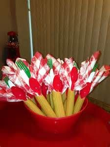 seriously cute - flatware in huge pieces of pasta - Italian party!