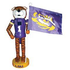 NACC LSU Mascot Flag Nutcracker