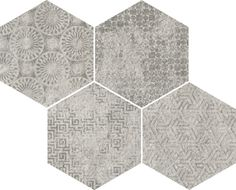Bys-SP Gris 35x28cm. | Floor Tiles Porcelain   | VIVES Azulejos y Gres S.A.  #porcelain #tile #hexagon