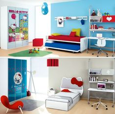 Hello Kitty Bedroom is one of the most popular interior theme for a girl's room. Hello Kitty bedroom requires simple and yet amazing decorative palette