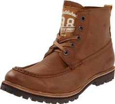 Step out ruggedly with this cool urban looking boots...Guess Men's Adis Cognac Boots