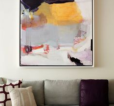 Living Room by Bella Mancini Design - Art by Madeline Denaro