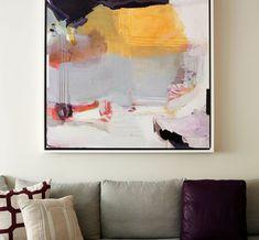Living Room by Bella Mancini Design - Art by Madeline Denaro
