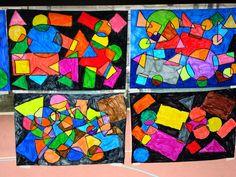 formes géométriques Art Lessons For Kids, Art For Kids, Third Grade Art, 2d And 3d Shapes, Tangram, Ecole Art, Shape Art, Art Graphique, Wassily Kandinsky