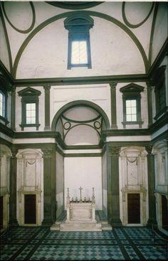 Old Sacristy, begun 1421, commissioned by Giovanni di Bicci de' Medici, San Lorenzo , Florence / Filippo Brunelleschi.