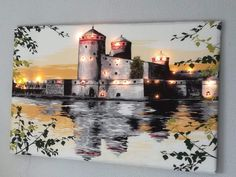 Lighted Canvas, 3d Painting, Diy And Crafts, Mansions, House Styles, Drawings, Home Decor, Decoration Home, Manor Houses