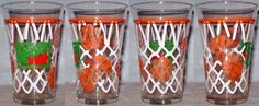 Mountain Dew Flare Glass with Basketball Theme