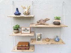 shelves, industrial shelves, wall shelves, floating shelf, hanging shelves, reversible asymmetric design by designershelving on Etsy https://www.etsy.com/listing/218530777/shelves-industrial-shelves-wall-shelves