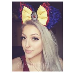Snow White Inspired Flower Minnie Mouse Disney Ears